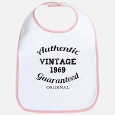 Authentic Vintage Birthday 1969 Bib