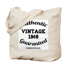 Authentic Vintage Birthday 1969 Tote Bag