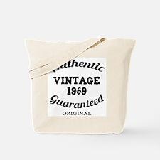 Authentic Vintage Birthday 1969 Tote Bag