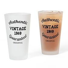 Authentic Vintage Birthday 1969 Drinking Glass