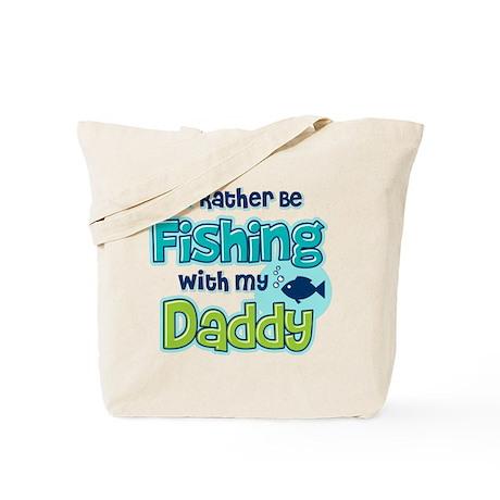 Rather Be Fishing Dad Tote Bag