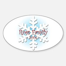 Snowflake - Ross Oval Decal