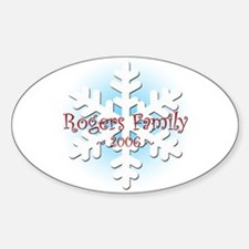 Snowflake - Rogers Oval Decal