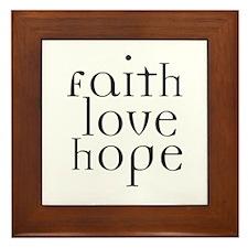 Faith Love Hope Framed Tile