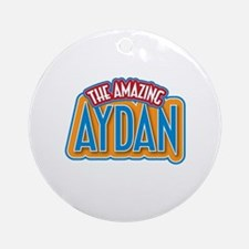 The Amazing Aydan Ornament (Round)
