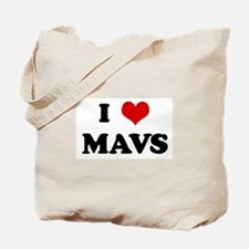 I Love MAVS Tote Bag