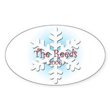 Snowflake - Reed Oval Decal