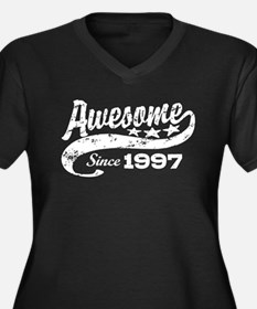 Awesome Since 1997 Women's Plus Size V-Neck Dark T