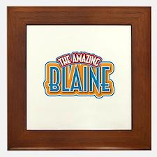 The Amazing Blaine Framed Tile
