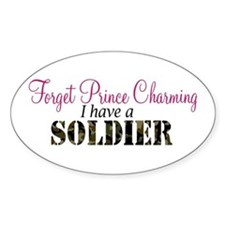 Forget Prince Charming.. I ha Oval Decal