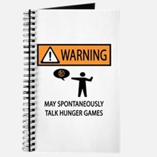Warning Talk Hunger Games Journal