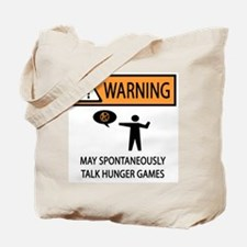 Warning Talk Hunger Games Tote Bag