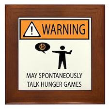 Warning Talk Hunger Games Framed Tile