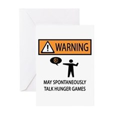 Warning Talk Hunger Games Greeting Card
