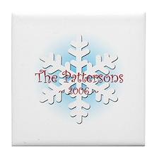 Snowflake - Patterson Tile Coaster