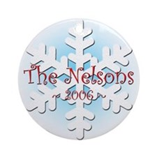 Snowflake - Nelson Ornament (Round)