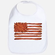 United States of Bacon Flag Bib