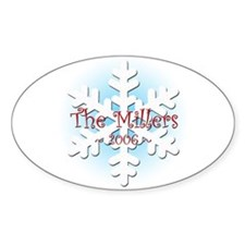 Snowflake - Miller Oval Decal