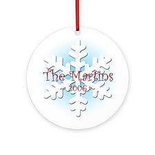 Snowflake - Martin Ornament (Round)