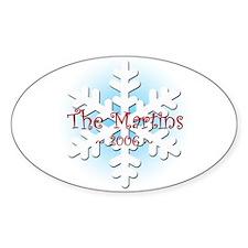 Snowflake - Martin Oval Decal