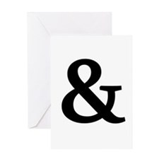 Vintage Ampersand Greeting Card