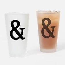 Vintage Ampersand Drinking Glass