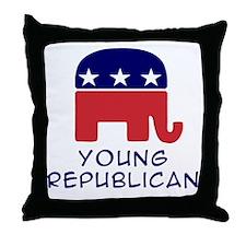 Young Republician Throw Pillow