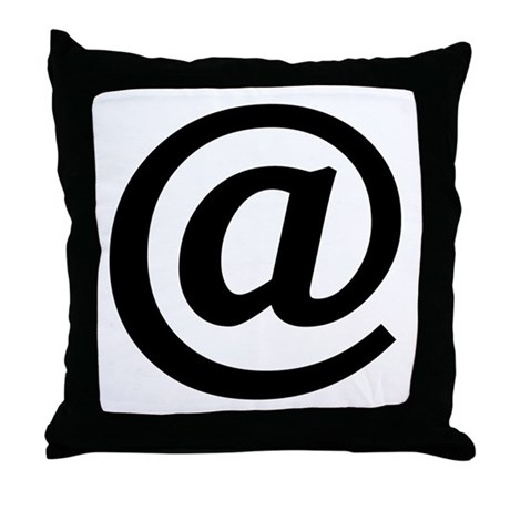 Vintage At Sign Throw Pillow