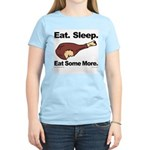Eat. Sleep. Eat Some More. Women's Pink T-Shirt
