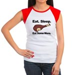 Eat. Sleep. Eat Some More. Women's Cap Sleeve T-Sh