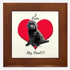 Black Golden Doodle Love Dad Framed Tile