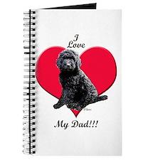 Black Golden Doodle Love Dad Journal