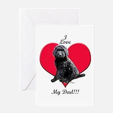 Black Golden Doodle Love Dad Greeting Card