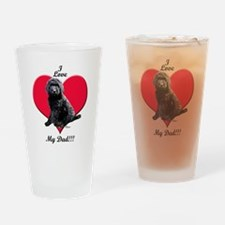 Black Golden Doodle Love Dad Drinking Glass
