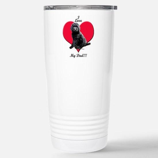 Black Golden Doodle Love Dad Travel Mug