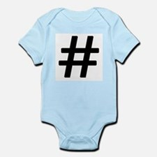 Vintage Pound Symbol Infant Bodysuit