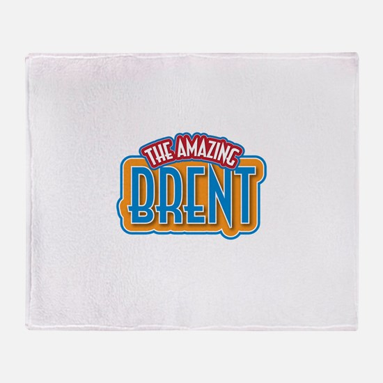 The Amazing Brent Throw Blanket