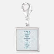 Sweetest Day Poem Silver Square Charm