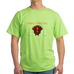 Happy Turkey Day Green T-Shirt
