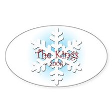 Snowflake - King Oval Decal