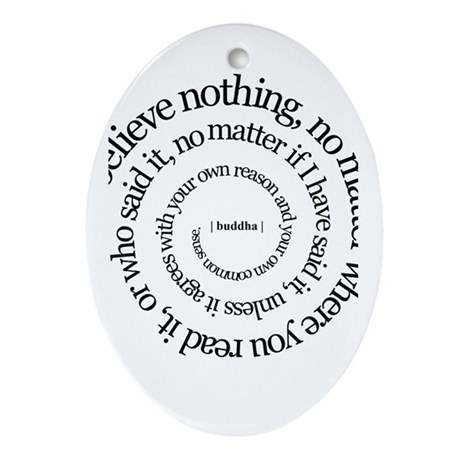 buddha quote Oval Ornament