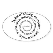 buddha quote Oval Decal
