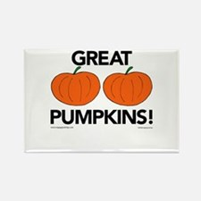 Great Pumpkins Rectangle Magnet
