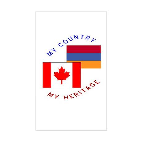 Armenia Canada Flag Heritage Rectangle Sticker