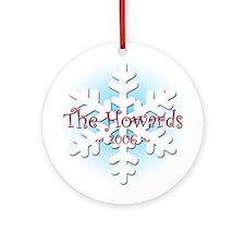 Snowflake - Howard Ornament (Round)