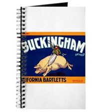 Antique 1920 Buckingham Pig Fruit Label Journal