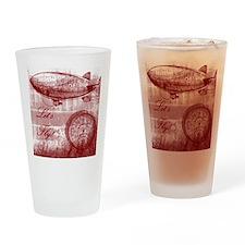 Steampunk Airship Drinking Glass