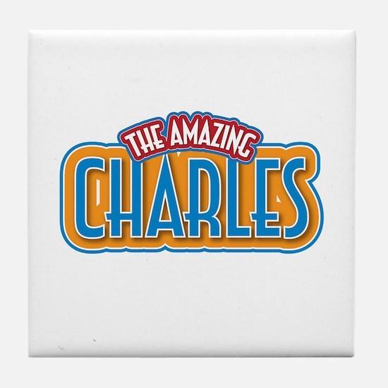 The Amazing Charles Tile Coaster