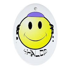 New Generation Shalom Oval Ornament