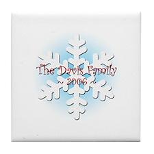 Snowflake - Davis Tile Coaster